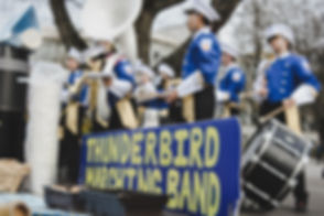Thunderbird Marching Band Sign with Band