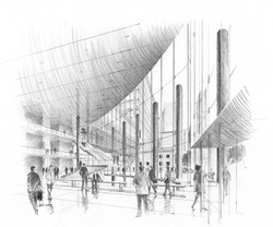 05-B&W Entry Lobby Perspective