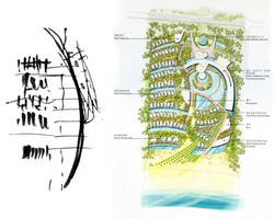 Sanya_Rendered Plan and Sketch_Small