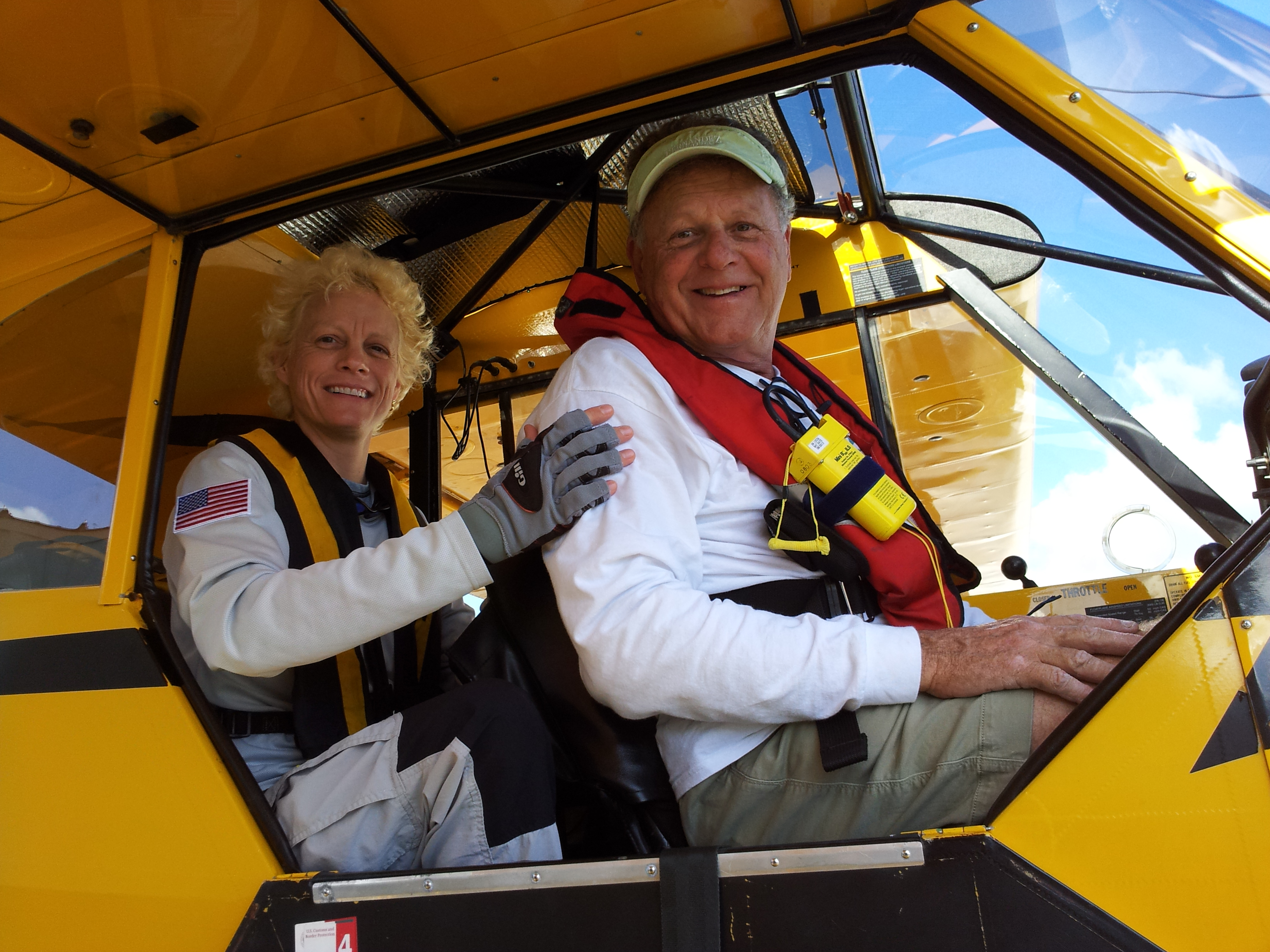 Margo with LightHawk volunteer pilot