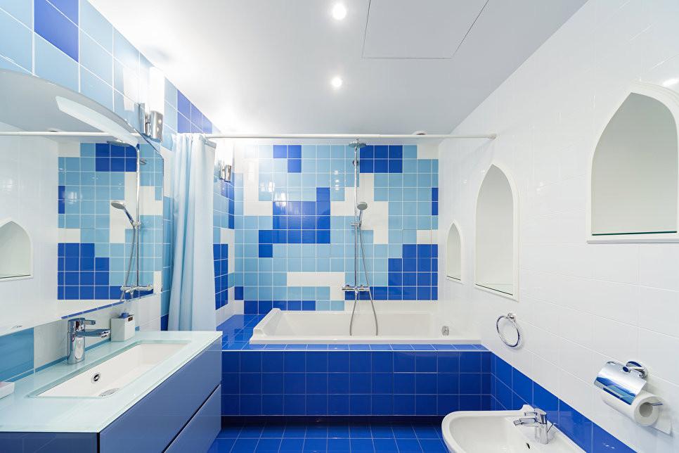 Детская ванная, ванная в синих тонах. ZE-MOOV HOME
