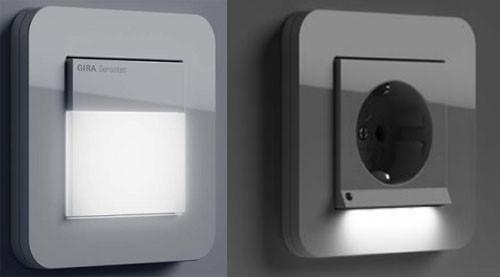 розетки и выключатели с подсветкой