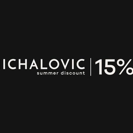 LETNÁ ZĽAVA -15%