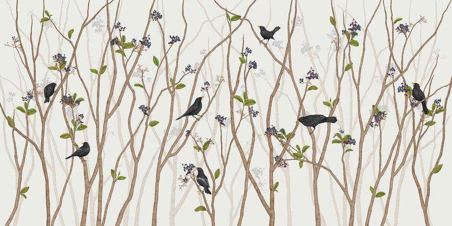 BLACKBIRD ON BLACK ROWAN