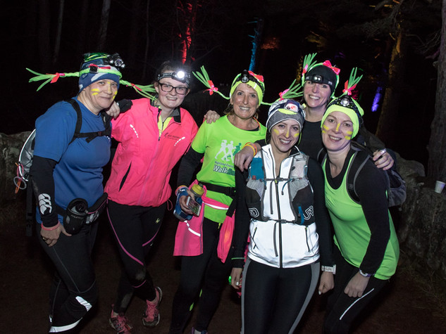 Night time trail running