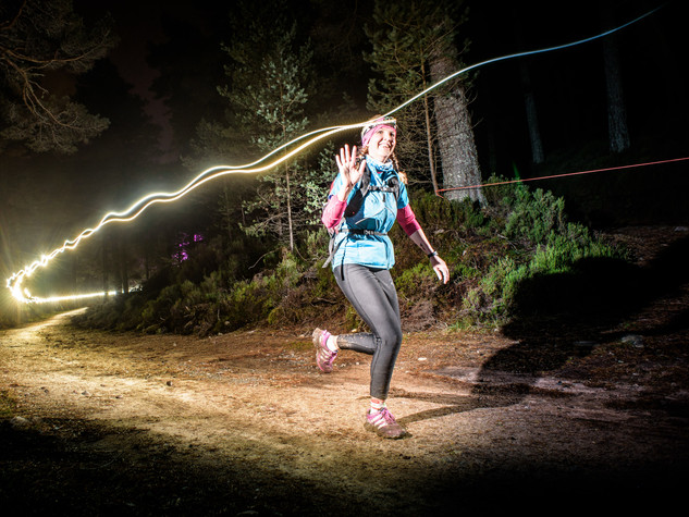 Night trail run Scotland