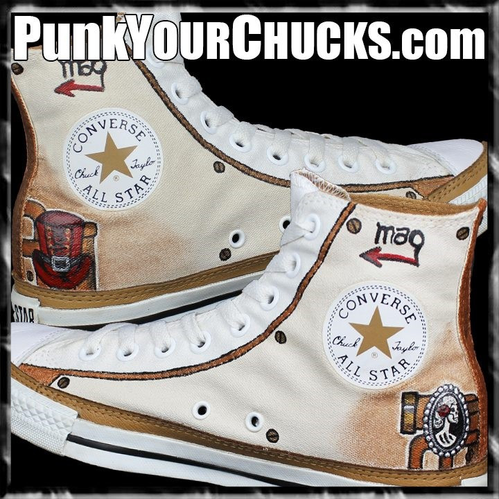 Steampunk converse shoes