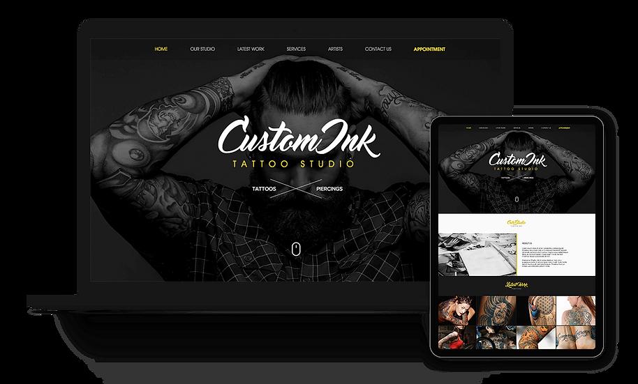 Custom Ink Tattoo - Tattoo Studio Template