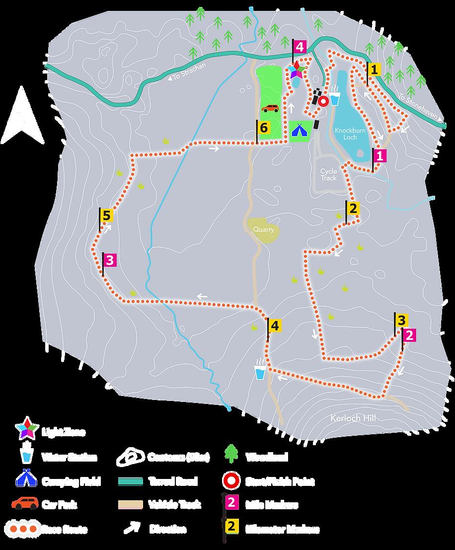Saltire 24 Race Map
