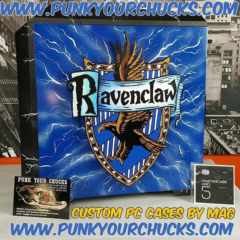 Ravenclaw Hand Painted Computer Case