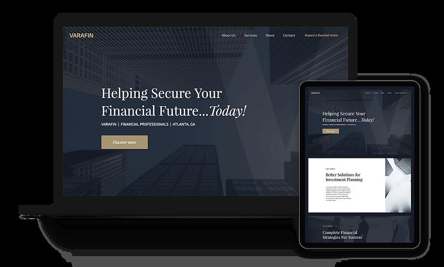 VARAFIN - Finance Website Template