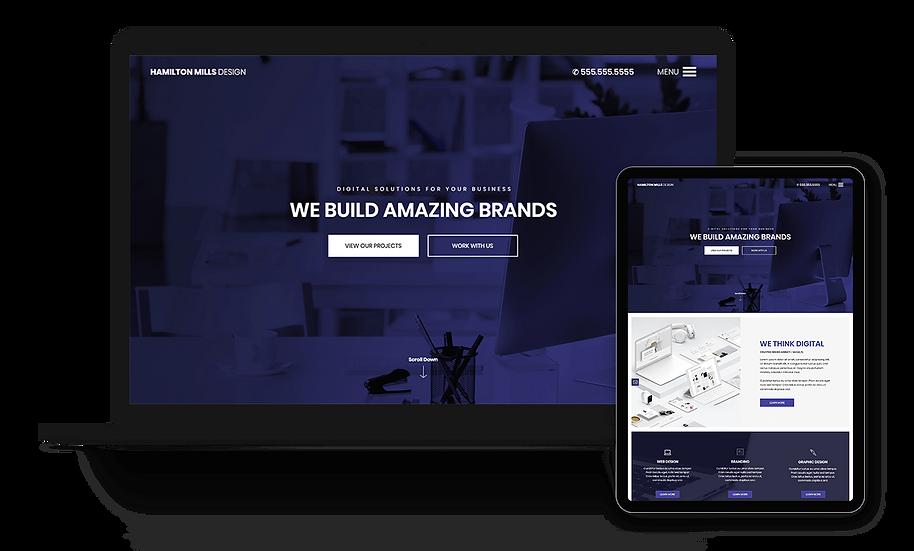 Hamilton Mills Design - Designer / Creative Template
