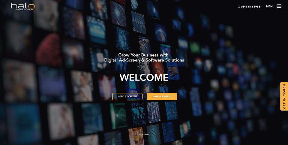 Digital Signage Website