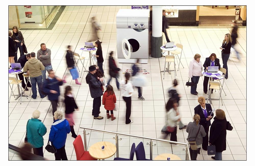 Large Venue People Walking Around