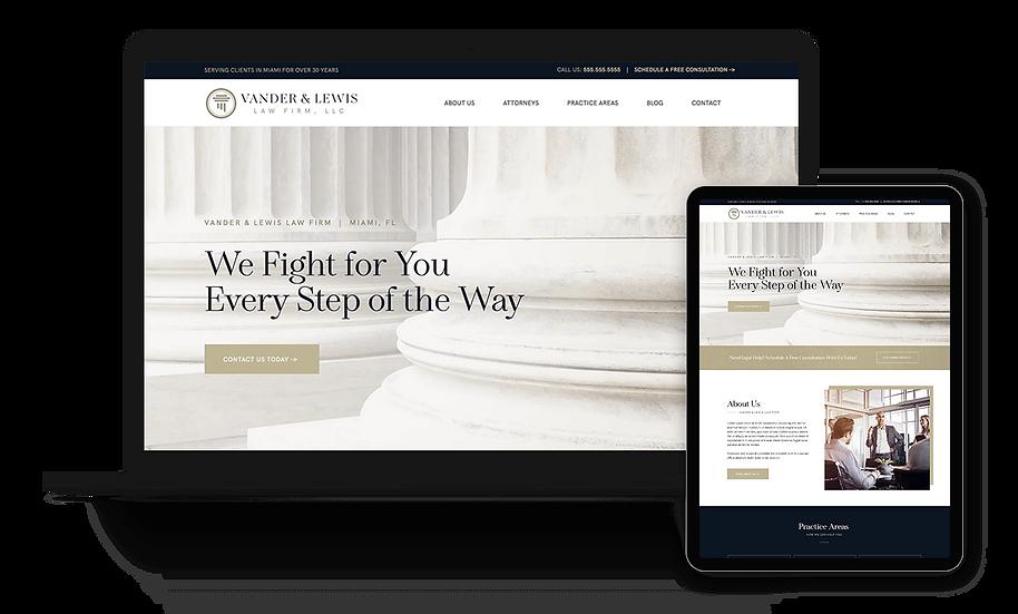 Vander & Lewis - Law Firm / Attorney Template