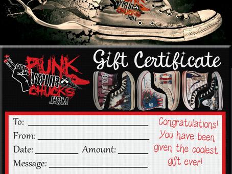 Custom Converse Gift Certificates!