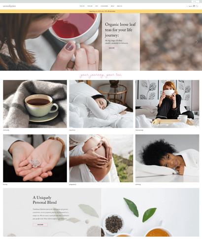 E-commerce tea website