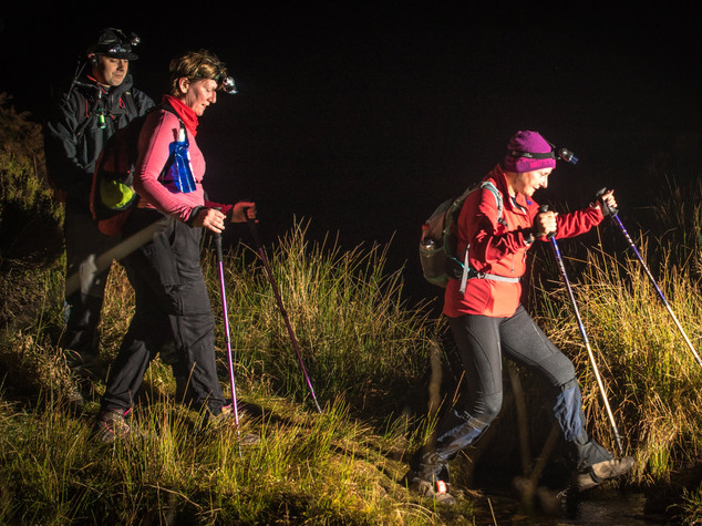 Night trail race Scotland