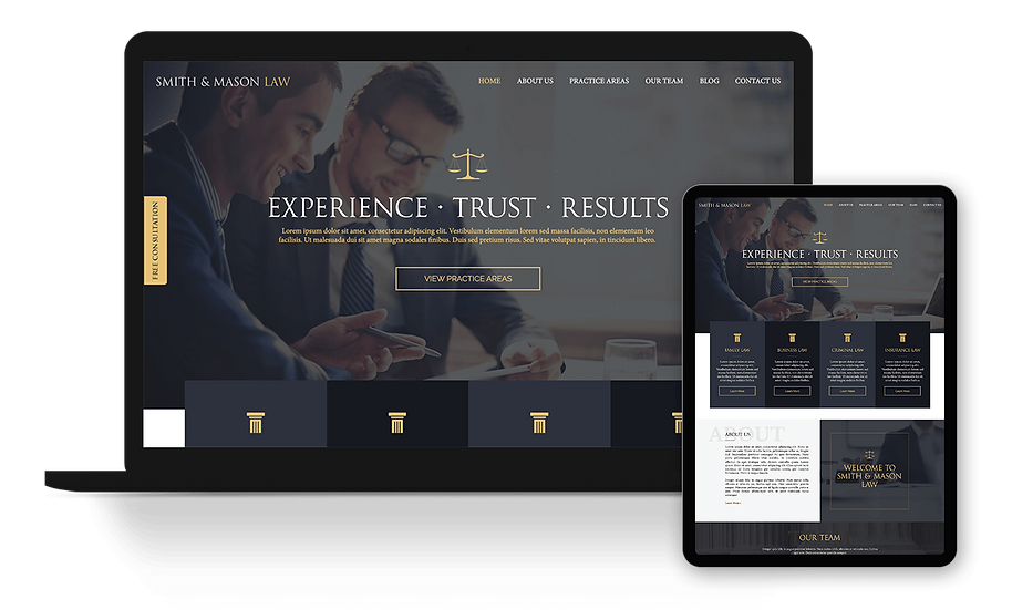 Smith & Mason Law - Law Firm / Attorney Template