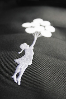 Banksy Embroidery Design | MJW Emb
