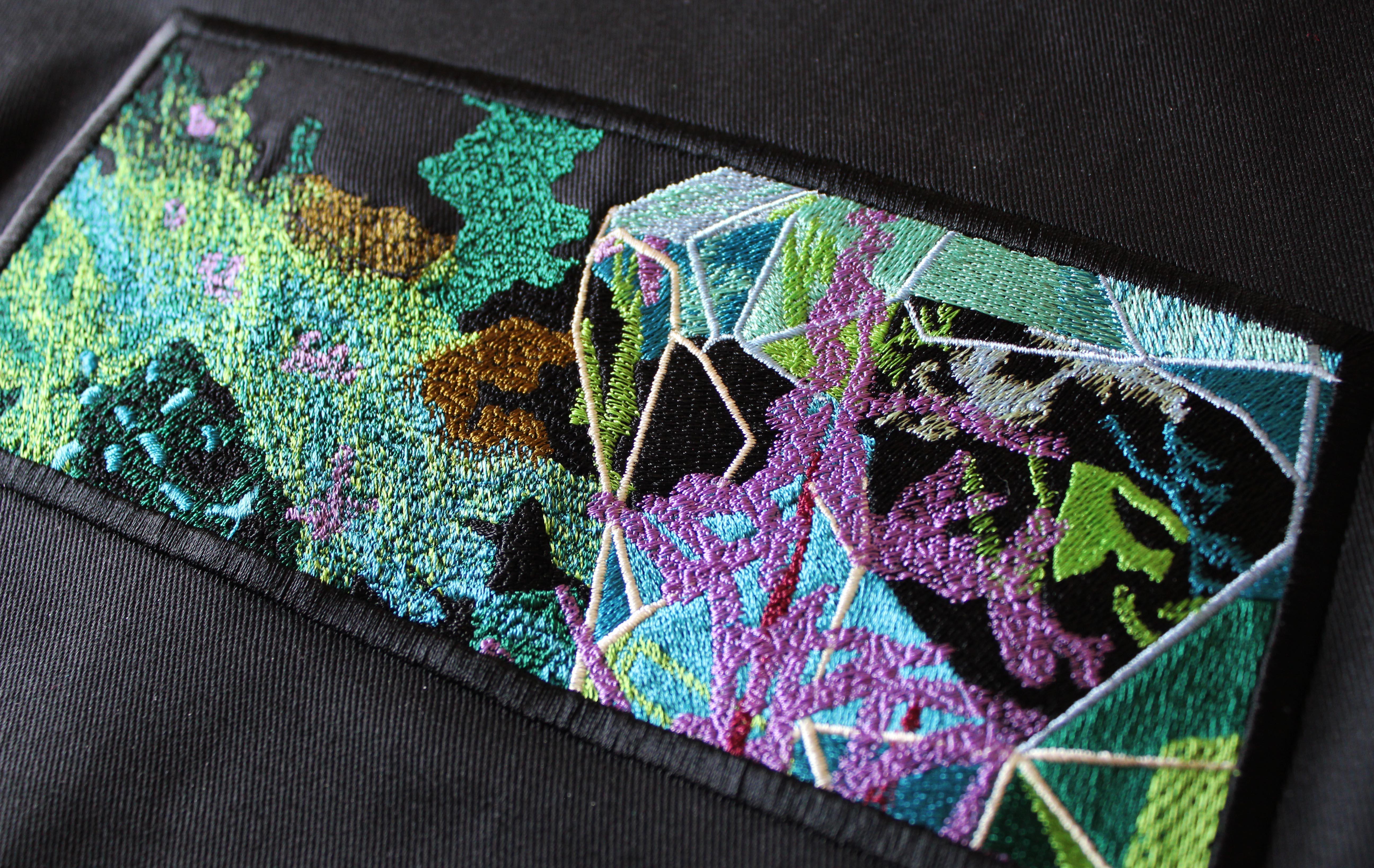 Textured Forest Scene