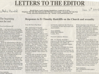 Responses to Fr Timothy Radcliffe on the Church and sexuality