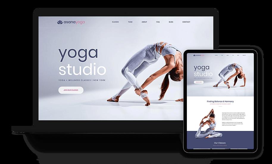 Asana Yoga - Yoga Studio Template