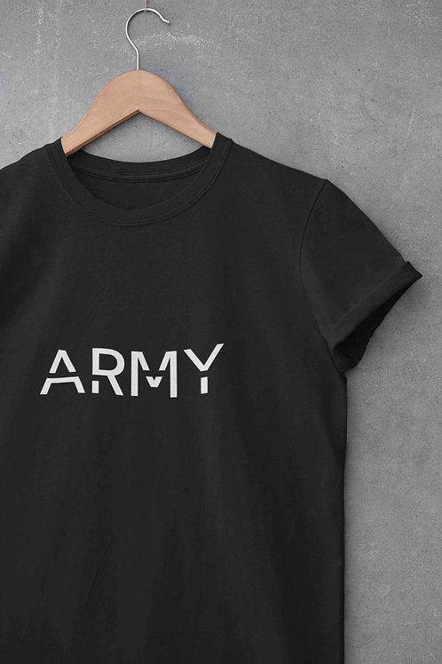 ARMY - Round Neck T-Shirt