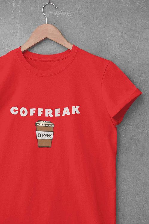 Coffreak ( For Coffee Freak ) - Round Neck T-Shirt