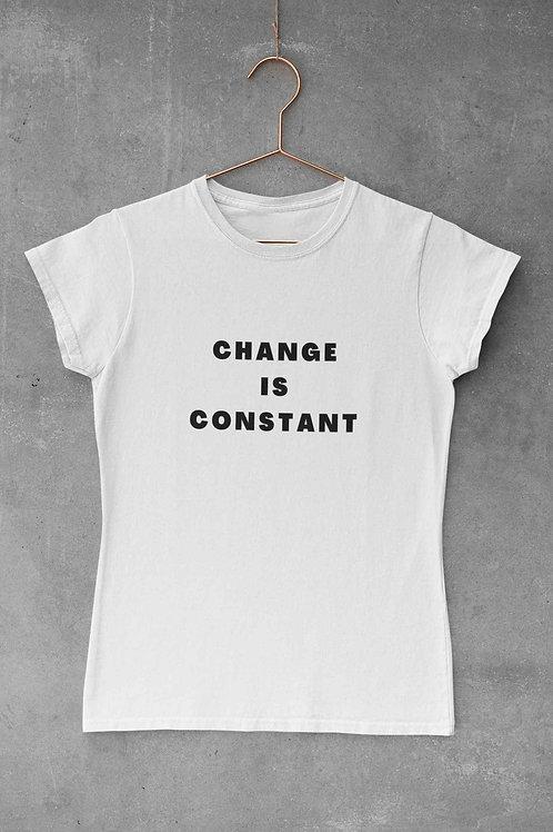 Change Is Constant - Women's Round Neck T-Shirt