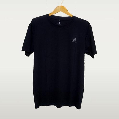 SHRUNS - Unisex Black Sports T-Shirts