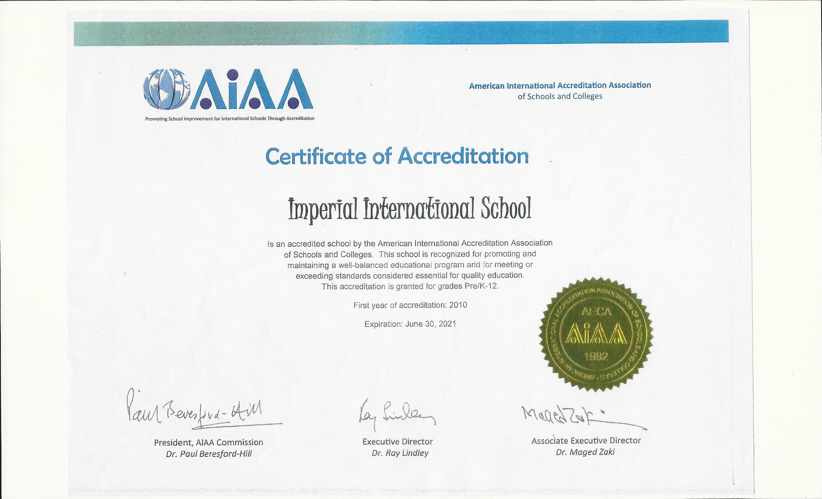 American International Accreditation
