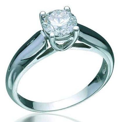 Золотое кольцо с бриллиантом 1 карат