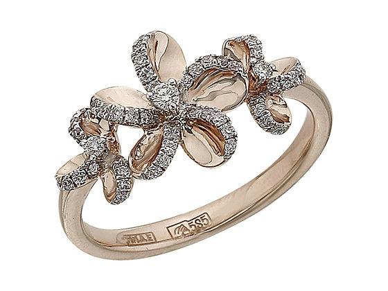 Золотое кольцо с цветами