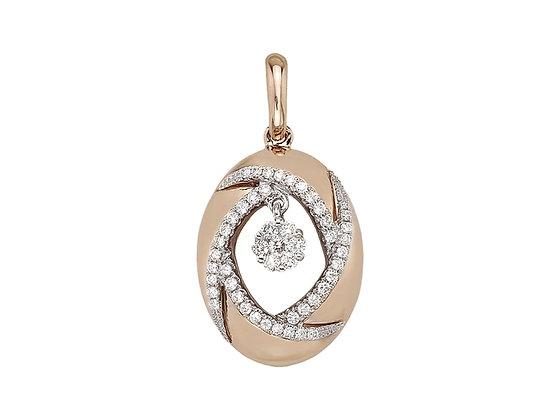Подвеска из золота с бриллиантами.