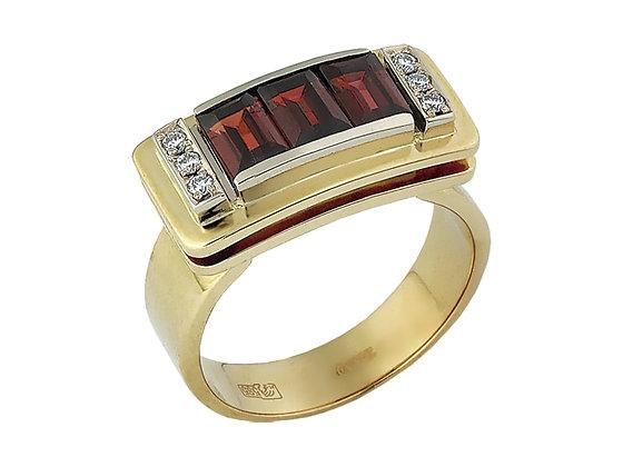 Перстень женский золотой