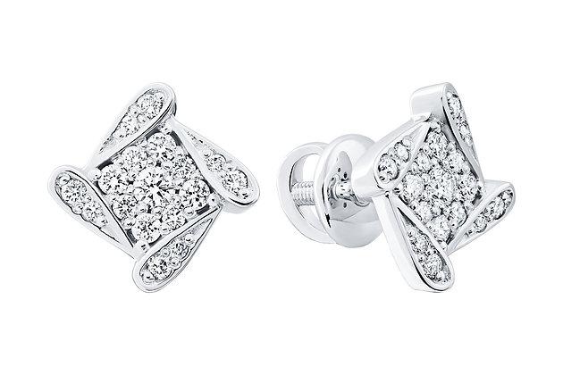 Сережки бриллиантовые