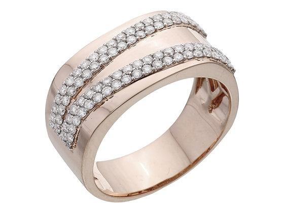 Широкое кольцо с бриллиантами