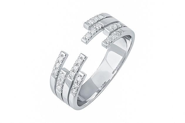 Безразмерное кольцо с бриллиантами