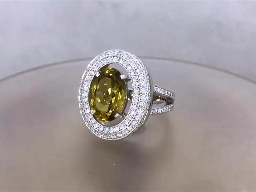 Перстень с хризолитом