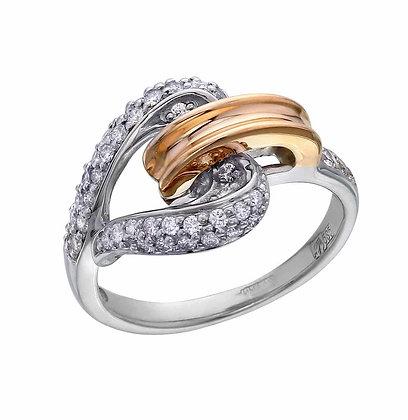 Кольцо сердце с бриллиантами