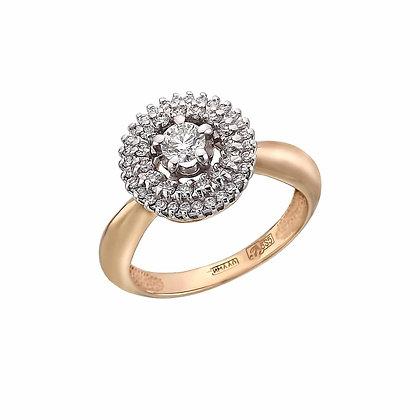 Кольцо малинка с бриллиантами