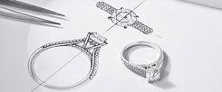 Изготовленное на заказ кольцо и его эскиз