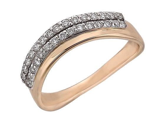 Золотое кольцо с бриллиантами дорожка