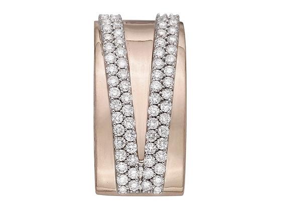 Бриллиантовая подвеска из розового золота.