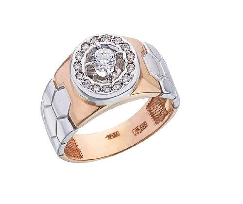 Мужское кольцо с бриллиантом