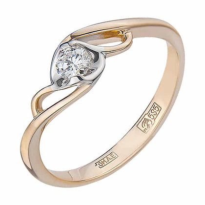 Кольцо с бриллиантом для предложения