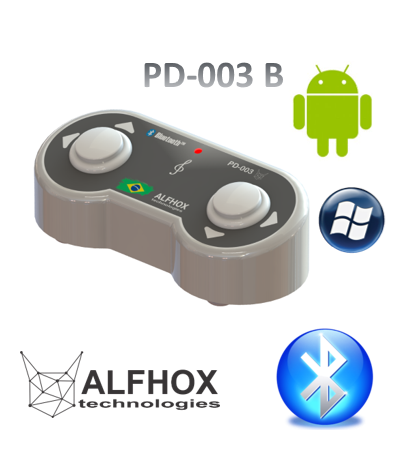 Pedal Passador de Cifras e Partituras® Bluetooth  Android/Windows