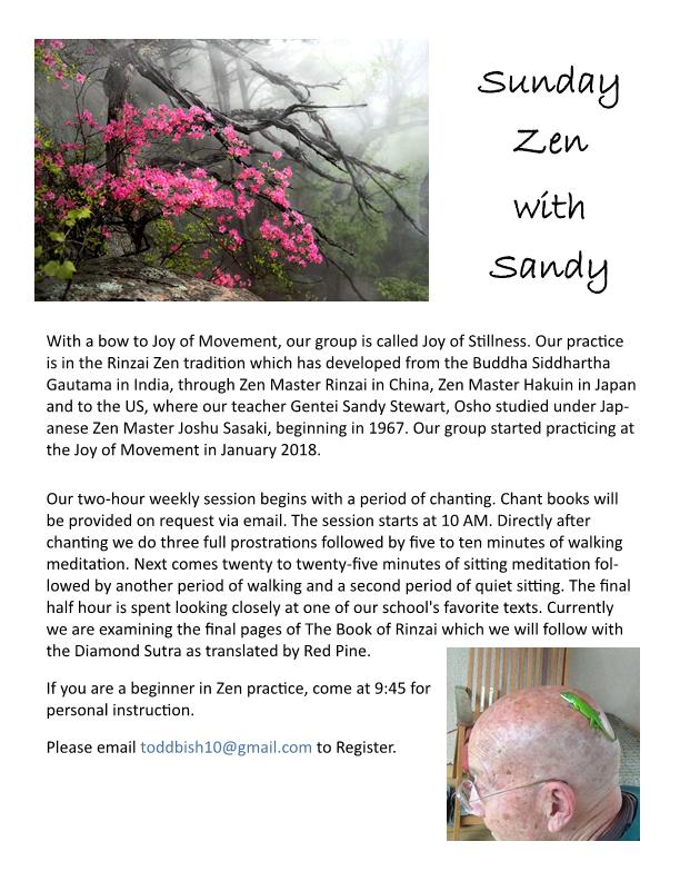Sunday Zen with Sandy