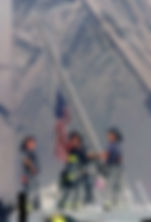 Firefighters Raising a Flag at WTC